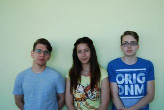 Fenntarthatósági Kupa 5. helyezett csapat (balról Sári Marcell, Kovács Bianka, Kulik Balázs)